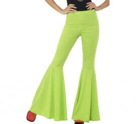 Pantalones de Campana Verdes para mujer