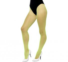 Pantys de rejilla Verde fluorescente