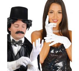 Par de guantes blancos 25 cm. adulto