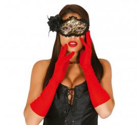 Par de guantes rojos largos 45 cm