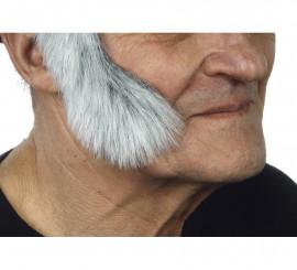 Patillas anchas curvadas con pelo blanco