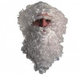 Peluca, Barba, Bigote y Cejas Papá Noel