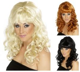 Peluca de los Años 60 Peinado de Colmena para mujer en varios colores