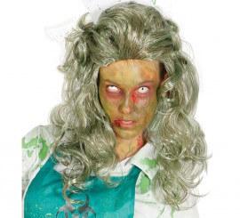 Peluca de Mujer Zombie para Halloween