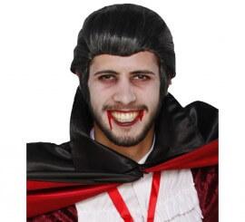 Perruque Vampire ou Dracula Noire Halloween