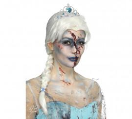 Peluca Frozen Zombi Blanca