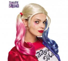 Peluca Harley Quinn de Escuadrón Suicida para mujer