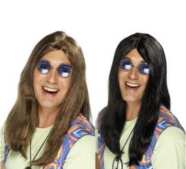 Perruque Hippie Longue pour homme en différentes couleurs
