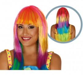 Perruque Longue Multicolore