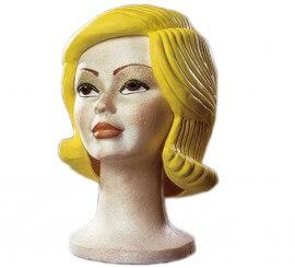 Peluca latex mujer rubia