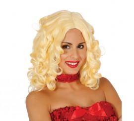 Perruque longue blonde bouclée