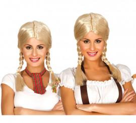 Perruque Blonde à nattes