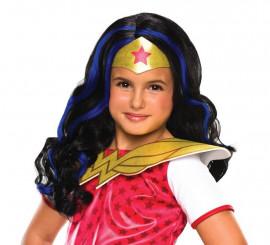 Peluca Wonder Woman para niña