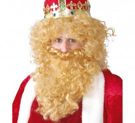 Peluca y Barba de Rey rubio