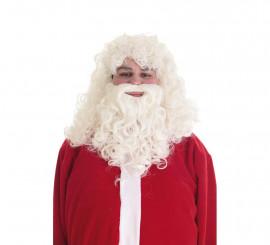 Peluca Y Barba Papá Noel Lux