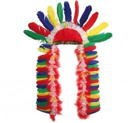 Penacho de Jefe indio multicolor