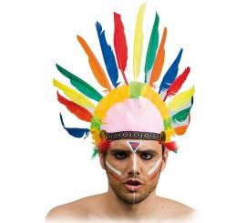 Penacho Indio con 10 plumas