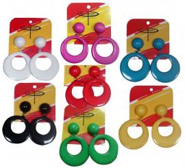 Boucles d'Oreilles Grandes Flamenco en différentes couleurs