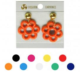Pendientes Flamenca de Flor en varios colores