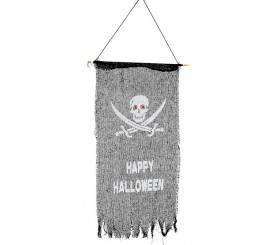 Bandera pirata para halloween de 75 x 40 cm