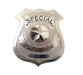 Placa de Policía metálica 7 cm