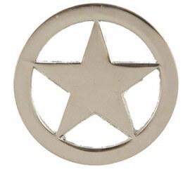 Placa de Sheriff del Oeste de 6 cm