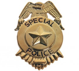 Placa Dorada de Policía Especial de 7 cm