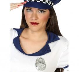 Placa Plateada de Policía