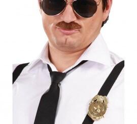 Placa Policía Dorada