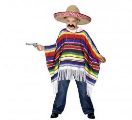 Poncho Mexicain pour enfants unisexe