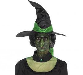 Prótesis de látex Nariz de bruja Verde