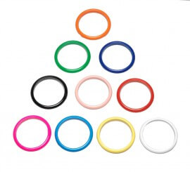 Pulsera Andaluza grande de 6,8cm diámetro colores variado