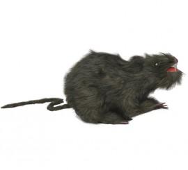 Rata peluda de 23 cm. para Halloween