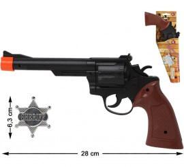 Revolver y Estrella de Sheriff 28 cm