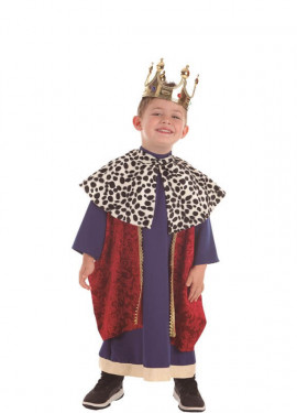 Rey Mago Azul y Rojo para niño