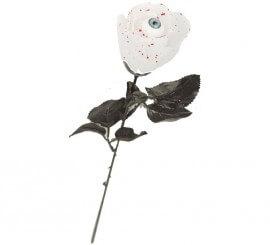 Rosa Blanca con Ojo de 44 cm