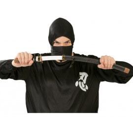 Sable de Japonés Ninja negro con funda 59,5 cm