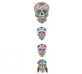 Set 4 Calaveras  del Dia De Los Muertos