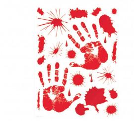 Set Adhesivos Sangre 30 X 39 cm