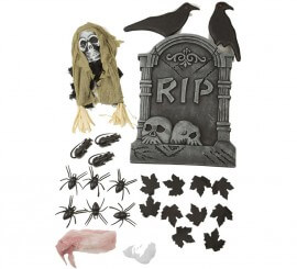 Set de decoración Cementerio Halloween de 54 cm