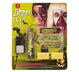 Set de Maquillaje con Cicatriz de Cremallera para adultos