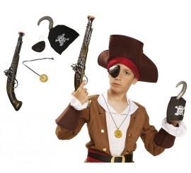 Set Pirata: Pistola, Colgante, Parche y Garfio