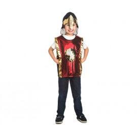 Set infantil Caballero Medieval Dorado: Casco y Chaleco