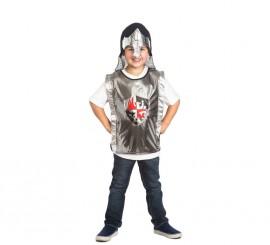 Set infantil Caballero Medieval Oscuro: Casco y Chaleco