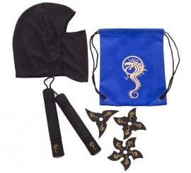 Set infantil de Ninja en mochila