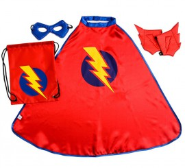 Kit de Super Héro Rouge en Sac à dos pour enfant