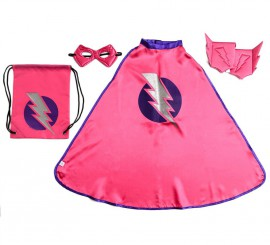 Set infantil de Superheroína en mochila