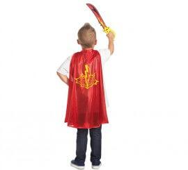 Set infantil Superhéroe Relámpago: Capa y Espada