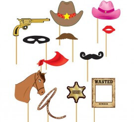 Set para Photocall cowboy 12 Pcs