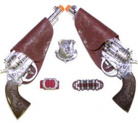 Set pistolas Cowboy o pistolero 27cm.
